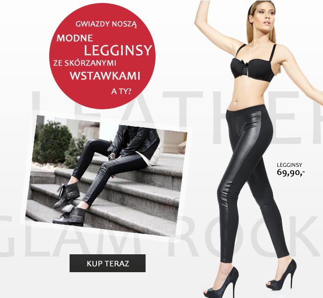 Gwiazdy noszą modne legginsy ze skórzanymi wstawkami. A Ty?